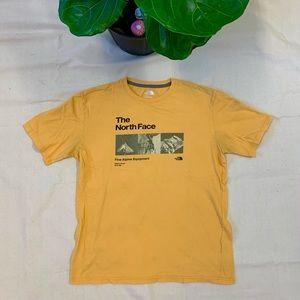 The North Face Yellow Equipment Alpine T-Shirt
